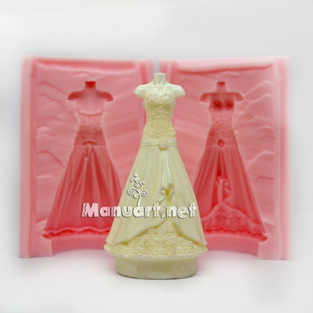 Silicone mold - Bride 3D - for making soaps, candles and figurines