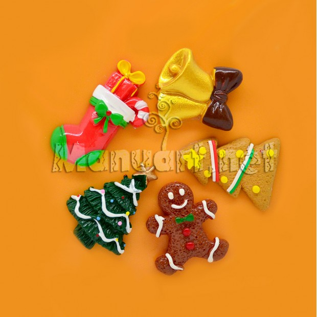 Silicone mold - Mold Christmas set №1 - for making soaps, candles and figurines
