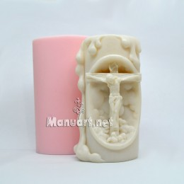 """Candle mold """"Jesus on the cross"""""""