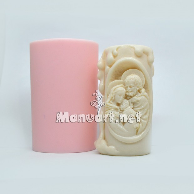 "Silicone mold - Candle mold ""Holy Family"" - for making soaps, candles and figurines"