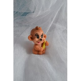 Silicone mold - Monkey with banana small 3D - for making soaps, candles and figurines