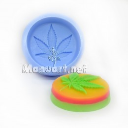 Silicone mold - Cannabis 2D