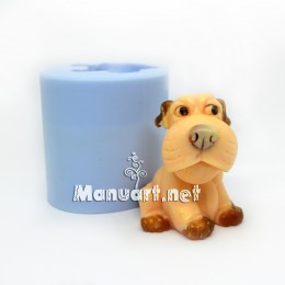 A puppy sitting 3D