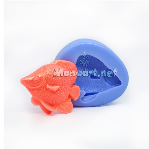 Silicone mold - Small fish №3 3D - for making soaps, candles and figurines