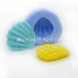 Silicone mold - Seashell small №1 3D - for making soaps, candles and figurines