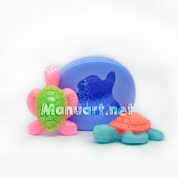 Silicone mold - Turtle small 3D - for making soaps, candles and figurines