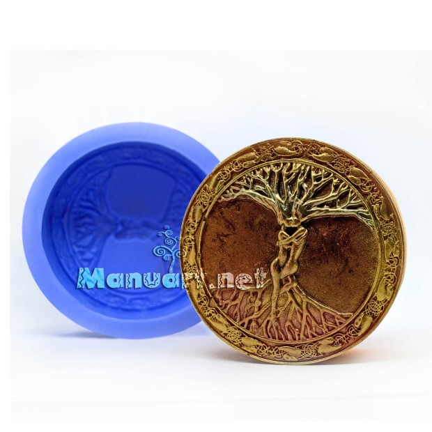 Silicone mold - Celtic Tree Of Life Lovers - for making soaps, candles and figurines