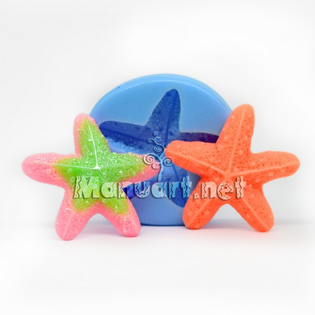 Silicone mold - Starfish sea star - for making soaps, candles and figurines