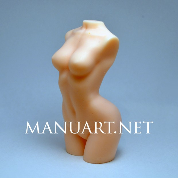 Silicone mold - Woman torso - for making soaps, candles and figurines