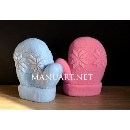 Silicone mold - Knitted mitten 3D - for making soaps, candles and figurines