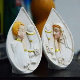 Silicone mold - First Communion praying boy - for making soaps, candles and figurines