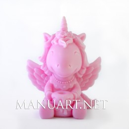 Sitting Unicorn Girl 3D