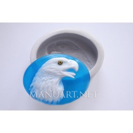 Silicone mold - Eagle head - for making soaps, candles and figurines