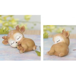 Silicone mold - Sleeping fawn - for making soaps, candles and figurines