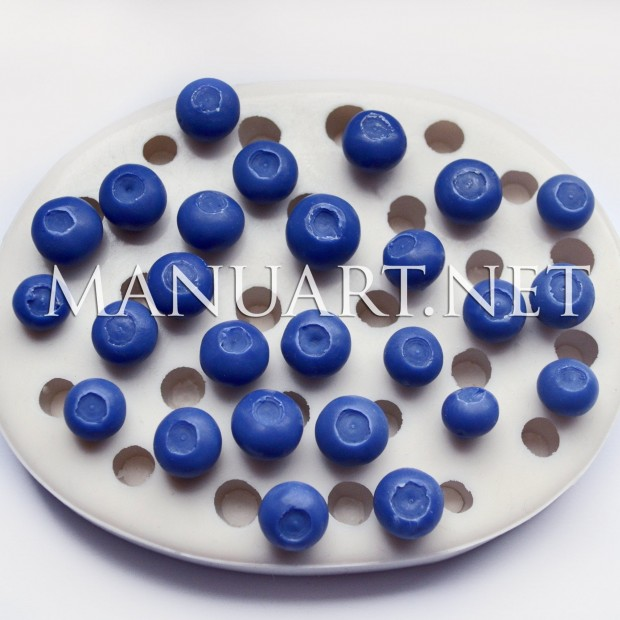 Silicone mold - Blueberry 3D - for making soaps, candles and figurines