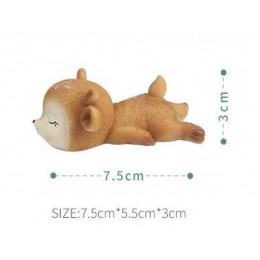 Silicone mold - Sleeping fawn #2 - for making soaps, candles and figurines