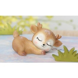 Silicone mold - Sleeping fawn #3 - for making soaps, candles and figurines