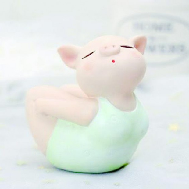 Silicone mold - Yoga pig #2 - for making soaps, candles and figurines