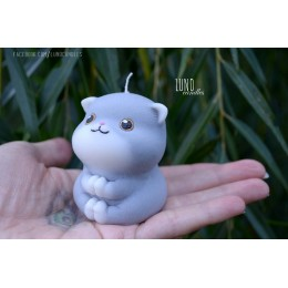 Silicone mold - Praying little cat 3D - for making soaps, candles and figurines