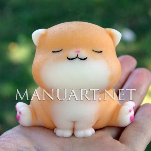 Silicone mold - Sweet cat 3D - for making soaps, candles and figurines