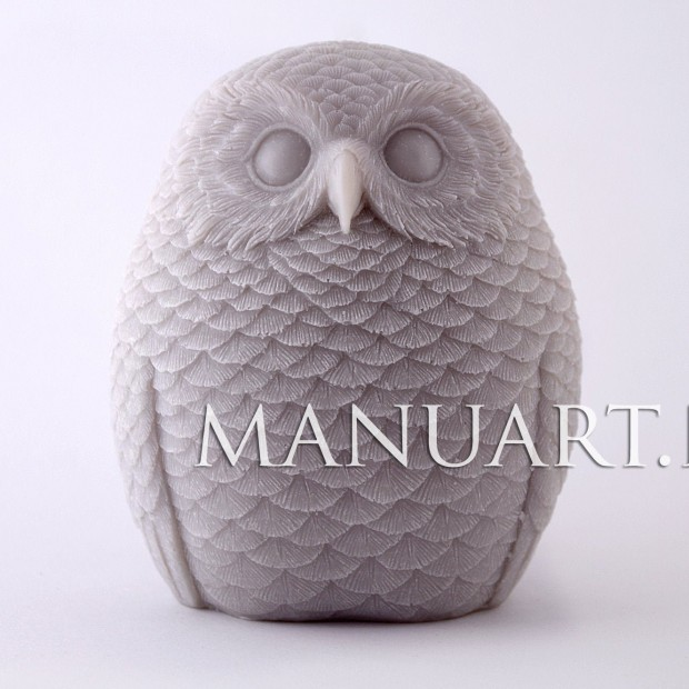 Silicone mold - OWL №2 3D - for making soaps, candles and figurines