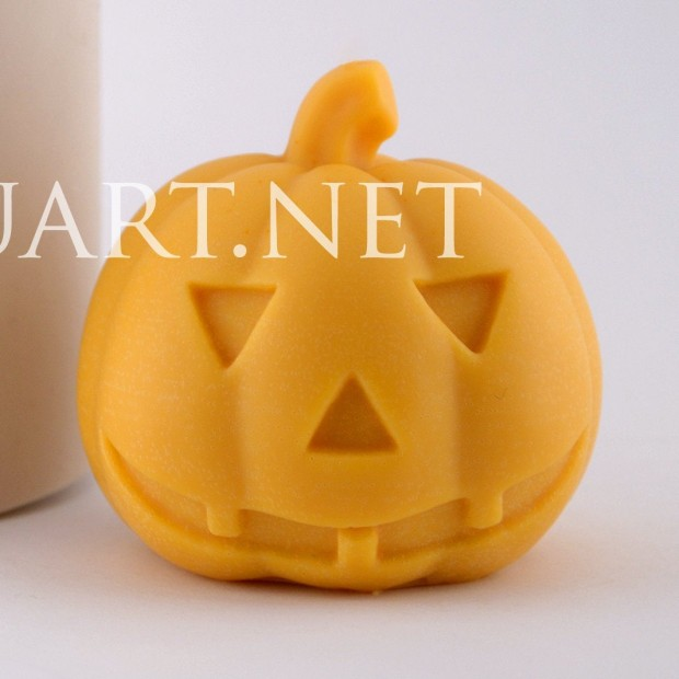 Silicone mold - Halloween pumpkin - for making soaps, candles and figurines