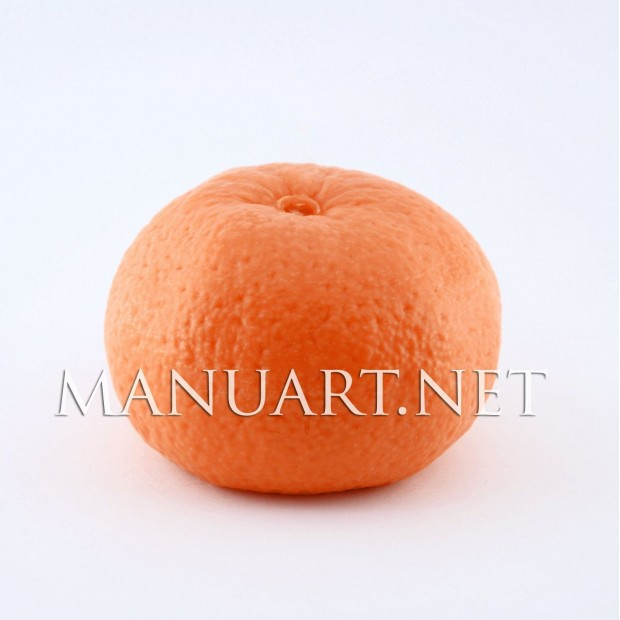 Silicone mold - Big real tangerine - for making soaps, candles and figurines