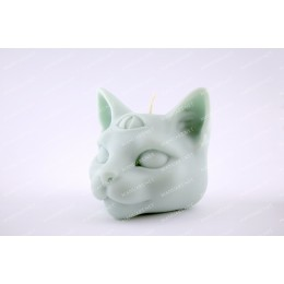 Silicone mold - Mystical cat head 3D - for making soaps, candles and figurines