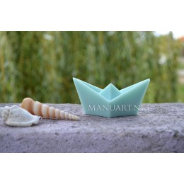 Silicone mold - Paper origami boat  - for making soaps, candles and figurines