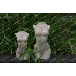 Silicone mold - Big Woman torso 3D - for making soaps, candles and figurines