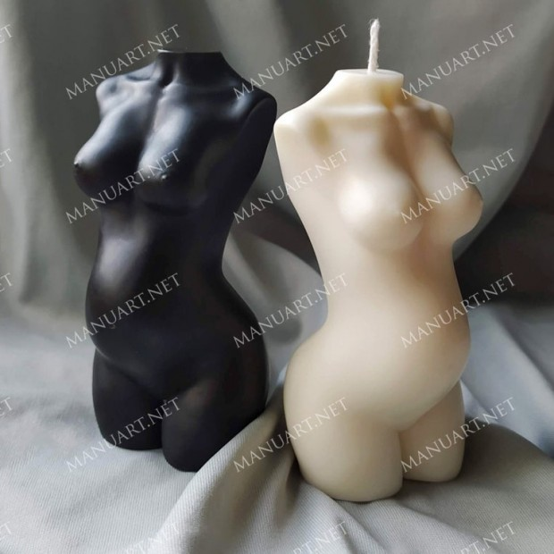 Silicone mold - Pregnant Female torso - for making soaps, candles and figurines