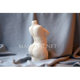 Silicone mold - Big Full figure Woman torso 3D  - for making soaps, candles and figurines