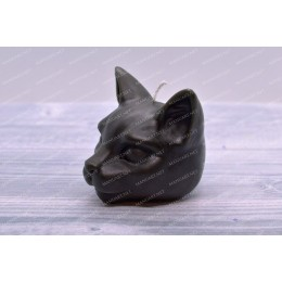 Silicone mold - Little Cat head 3D - for making soaps, candles and figurines