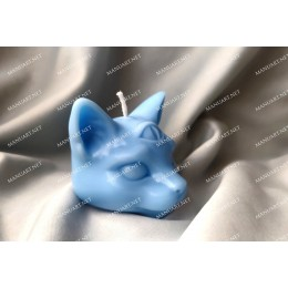 Silicone mold - Little mystical cat head 3D - for making soaps, candles and figurines