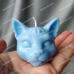 Little mystical cat head 3D
