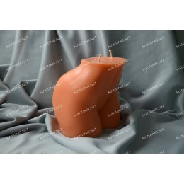 Silicone mold - Big female booty bottom 3D - for making soaps, candles and figurines