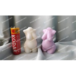 Silicone mold - NEW MINI Pregnant Female torso 3D - for making soaps, candles and figurines