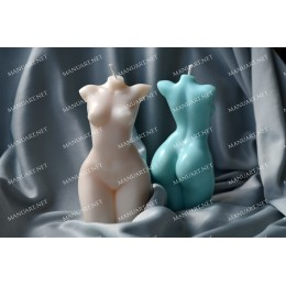 Silicone mold - Small breasts female torso 3D - for making soaps, candles and figurines