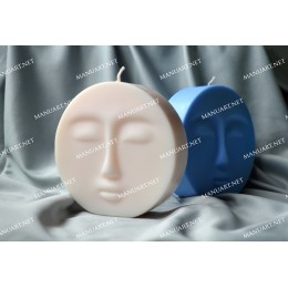 Silicone mold - Moon face 3D - for making soaps, candles and figurines
