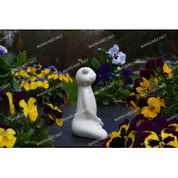 Silicone mold - Meditation sitting frog 3D  - for making soaps, candles and figurines