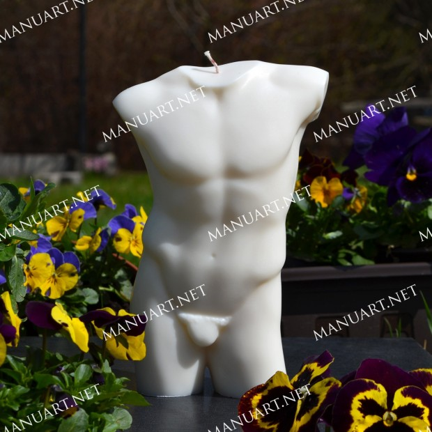 Silicone mold - LARGE male torso 3D - for making soaps, candles and figurines