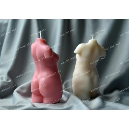"""Silicone mold - Woman torso â""""–7 - for making soaps, candles and figurines"""