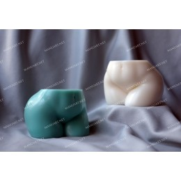 Silicone mold - Curvy Booty bottom 3D - for making soaps, candles and figurines