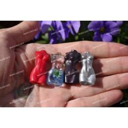 Silicone mold - SUPER MINI Goddess Woman torso 3D - for making soaps, candles and figurines