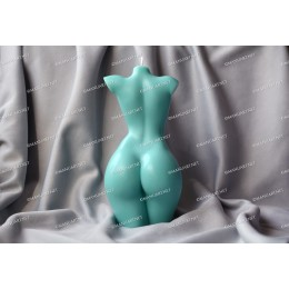 Silicone mold - BIG Small breasts female torso 3D - for making soaps, candles and figurines