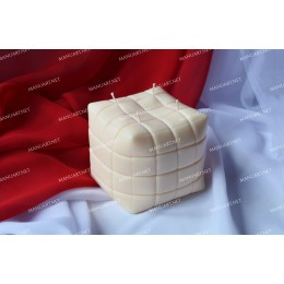 Silicone mold - Big pouf sofa Cube 3D - for making soaps, candles and figurines