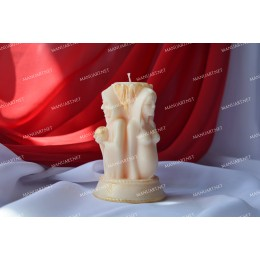 Silicone mold - Triple Goddess 3D - for making soaps, candles and figurines