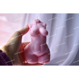Silicone mold - BIG curvier Woman torso 3D - for making soaps, candles and figurines