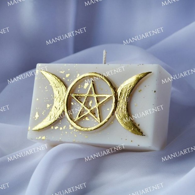 Silicone mold - Pentagram 3D - for making soaps, candles and figurines
