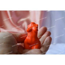 Silicone mold - MINI curvier Woman torso 3D - for making soaps, candles and figurines